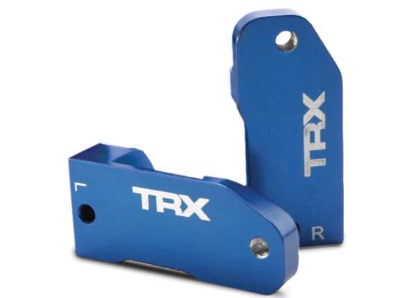 TRAXXAS® 3632A blaue Aluminium Lenkhebelhalter Caster blocks links und rechts 30°