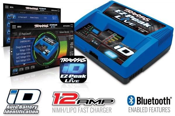 TRAXXAS® 2971G EZ-Peak Live 12-amp NiMH/LiPo Schnellladegerät mit iD™ und Bluetooth®