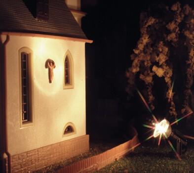 Viessmann 6330 Flutlichtstrahler niedrig LED weiß