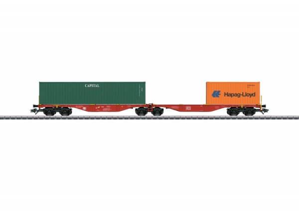 Märklin 47801 Doppel-Containertragwagen Bauart Sggrss 80