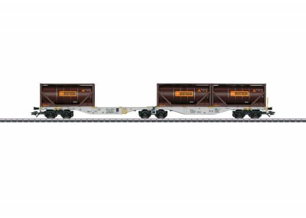 "Märklin 47802 Doppel-Containertragwagen Bauart Sggrss 80 ""BERTSCHI"""