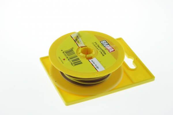 BRAWA 3170 braun/gelb Litze 0,14 mm², 5-m-Spule