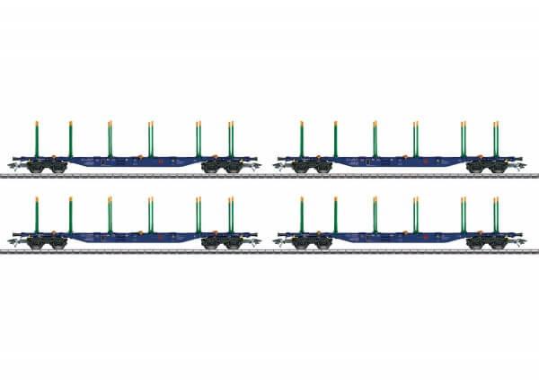 TRIX 24247 4 vierachsige KLV-Tragwagen der Bauart Sgnss
