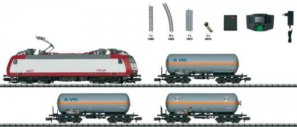 """Minitrix 11144 Digital-Startpackung """"Güterzug"""" Serie 4000 der CFL"""