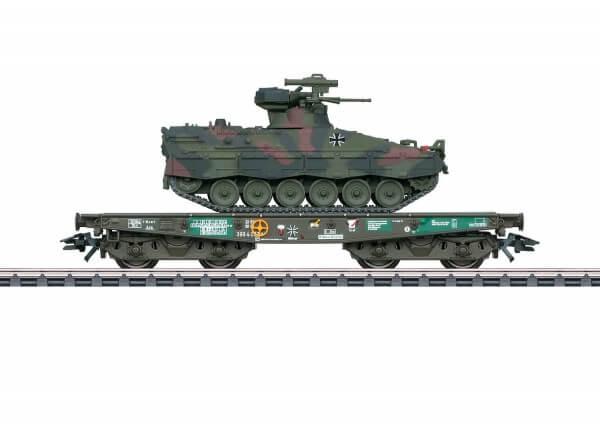 Märklin 48746 Schwerlast-Flachwagen Rlmmps mit Schützenpanzer Marder