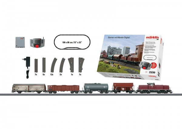 Märklin 29290 Digital-Startpackung Güterzug BR 290 + Sound + Telex