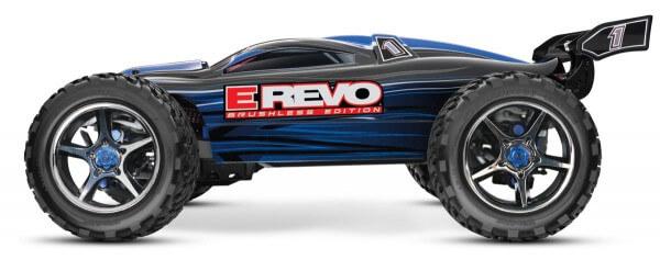 TRAXXAS® 56086-4 The Fastest Name in Radio Control E-Revo Brushless Edition blau