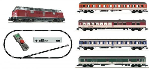 FLEISCHMANN 931881 z21®start Digitalset: Diesellok BR 221 mit Schnellzug in Popfarben