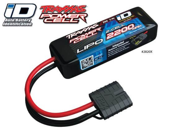 TRAXXAS® 2820X TRAXXAS® iD™ LiPo POWER CELL 2200 mAh 2S