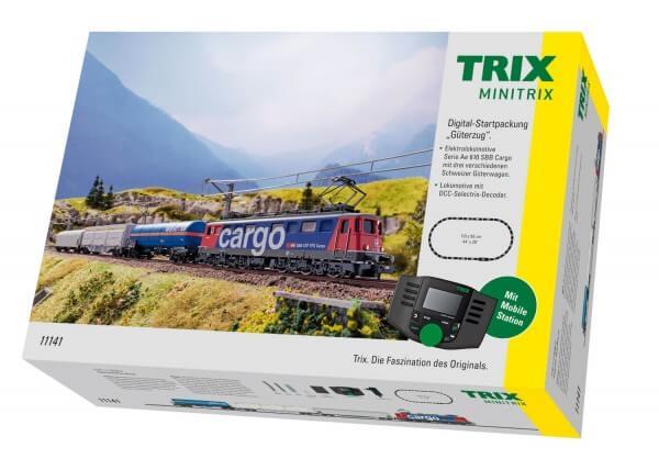 """Minitrix 11141 Digital-Startpackung """"Güterzug"""" Serie Ae 610 der SBB Cargo"""