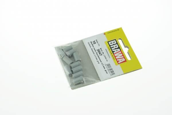 BRAWA 3047 Muffen rund, 2,5 mm grau
