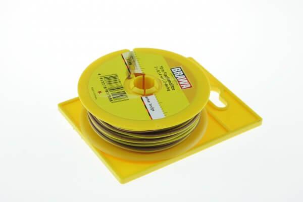 BRAWA 3199 braun/gelb Litze 0,14 mm², 10-m-Spule