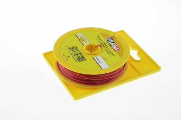 BRAWA 3152 Schaltlitze, 0,14 mm², 25-m rot