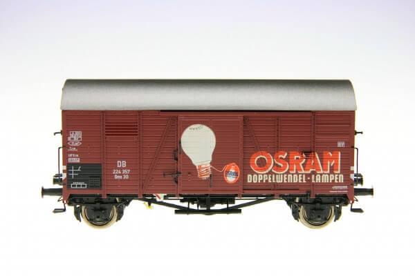 """BRAWA 47963 Gedeckter Güterwagen Gms 30 """"Osram"""" der DB"""