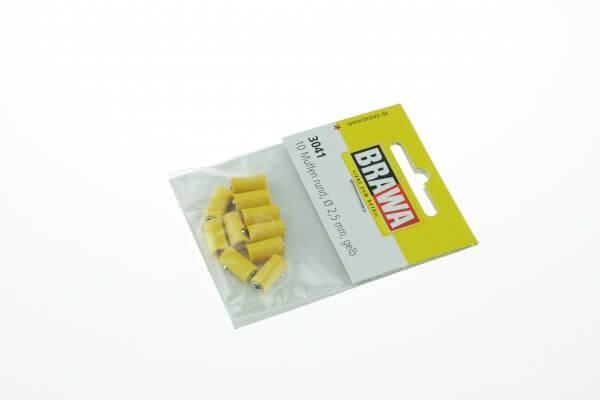BRAWA 3041 Muffen rund, 2,5 mm gelb