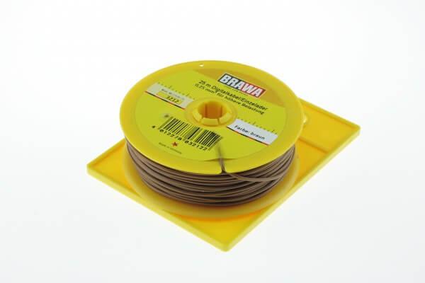 BRAWA 3212 Litze für digitalen Einsatz, 0,25 mm², 25-m braun
