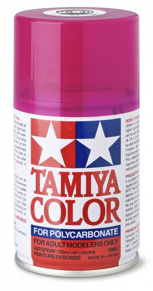 TAMIYA 300086040 PS-39 PS-40 TRANSLUCENT PINK Polycarbonat 100ml