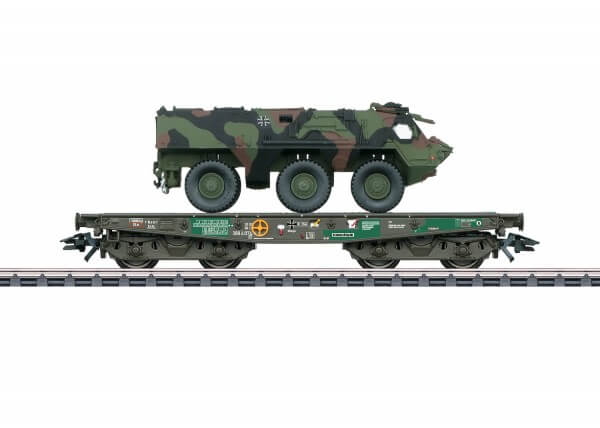 Märklin 48794 Schwerlast-Flachwagen Rlmmps mit Transportpanzer 1 (TPz1) Fuchs