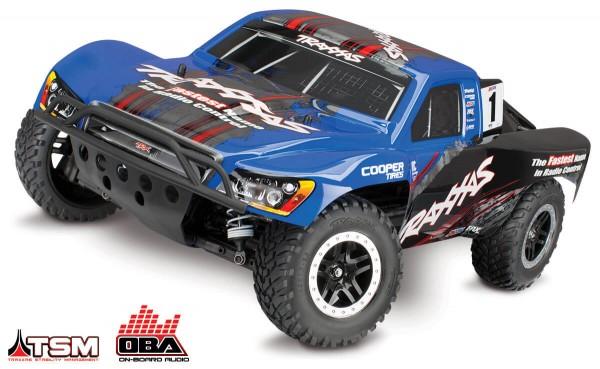 TRAXXAS® TRX68086-24 Slash 4x4 VXL mit TSM® und OBA® blau
