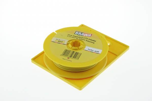 BRAWA 3217 Litze für digitalen Einsatz, 0,25 mm², 10-m gelb