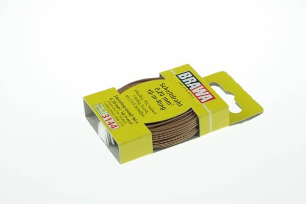 BRAWA 3144 Schaltdraht 0,20 mm², 10-m, braun