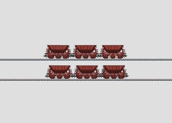 Märklin 46371 Erzwagen-Set 2 dreiachsige Erzwagen