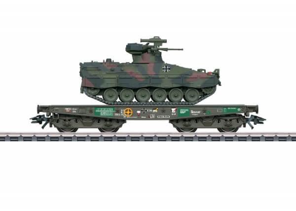 Märklin 48747 Schwerlast-Flachwagen Rlmmps mit Schützenpanzer Marder