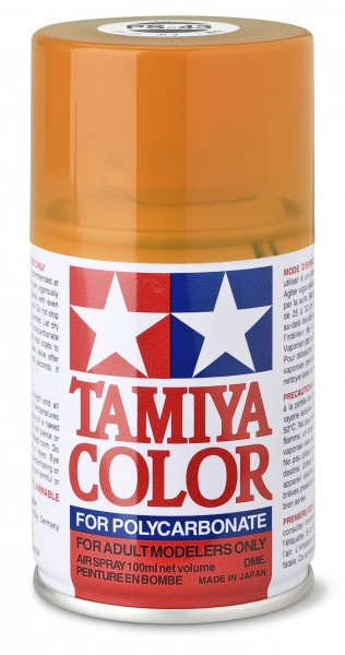 TAMIYA 300086043 PS 43 TRANSLUCENT ORANGE Polycarbonat 100ml