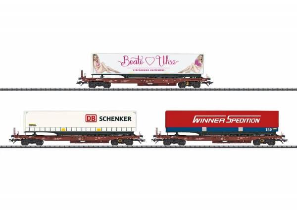 TRIX 24548 Güterwagen-Set Taschenwagen Sdgkms 707