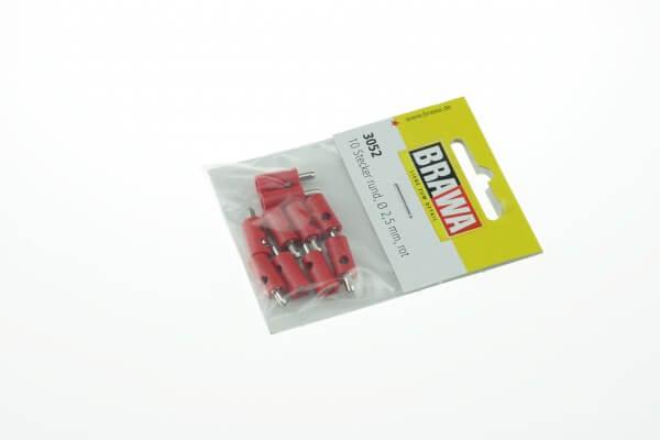 BRAWA 3052 Querlochstecker rund, 2,5 mm rot