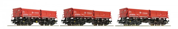 Roco 67197 3-teiliges Set Muldenkippwagen, DB Schenker