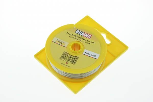 BRAWA 3159 Schaltlitze, 0,14 mm², 25-m weiss
