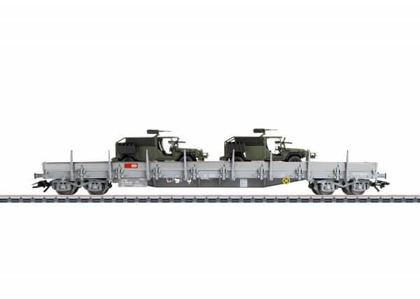 Märklin 47068 Niederbordwagen Bauart Res der SBB beladen mit zwei MB G 270 CDI