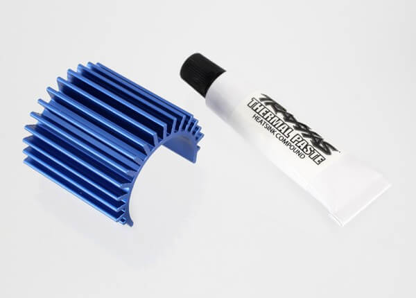 TRAXXAS® 3374 Kühlkörper für Velineon 380 brushless Motoren Aluminium blau eloxiert