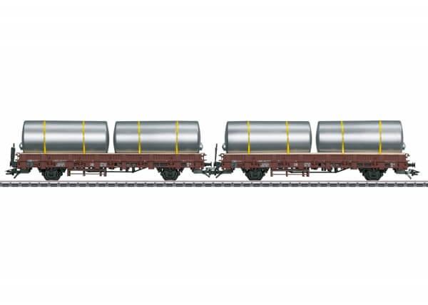 Märklin 46925 2 Rungenwagen Kbs zum Transport von Brauereitanks