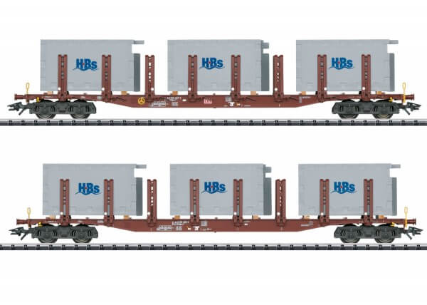 TRIX 24141 H0 Rungenwagen-Set Hellweg Badsysteme (HBS)