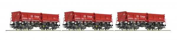 Roco 67199 3-teiliges Set Muldenkippwagen, DB Cargo