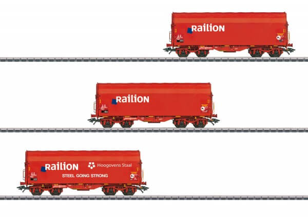 Märklin 47221 Set mit 3 Schiebeplanenwagen Shimmns