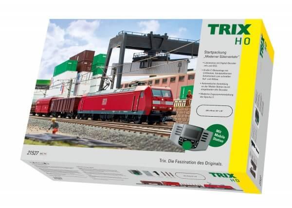 "TRIX 21527 Startpackung ""Moderner Güterverkehr"" BR 185"