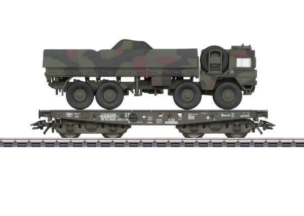 Märklin 48797 Schwerlast-Flachwagen Rlmmps mit MAN LKW 10t GL
