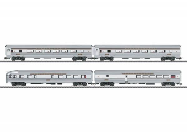 Märklin 43616 Streamliner-Schnellzugwagen Coach, Coach, Diner, Observation