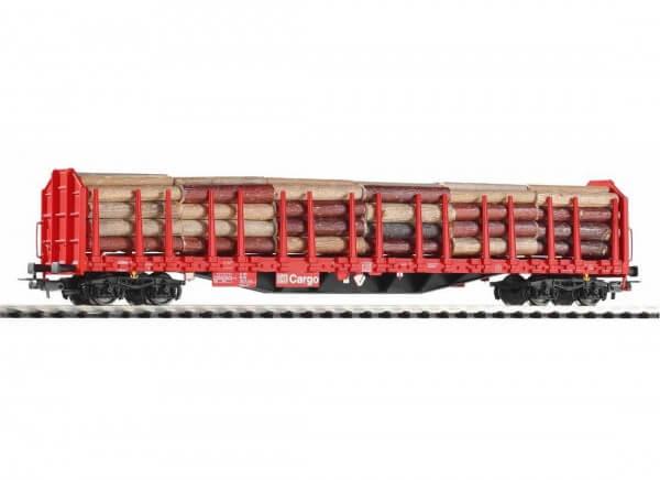 Piko H0 54339 Stammholztransportwagen Roos-t642 mit Holzladung