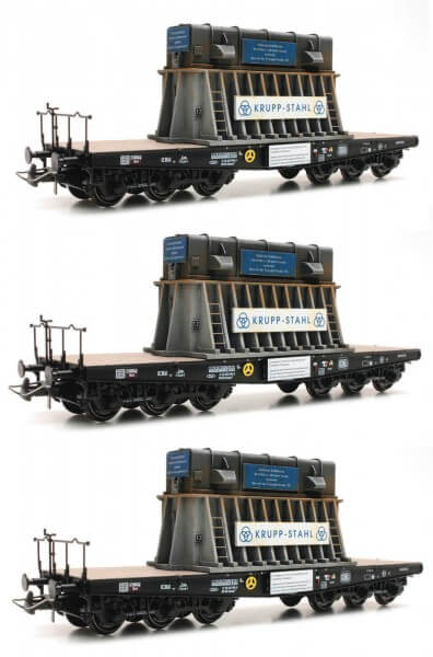 Roco 76158 3-teiliges Set Schwerlastwagen Heißbrammenhauben