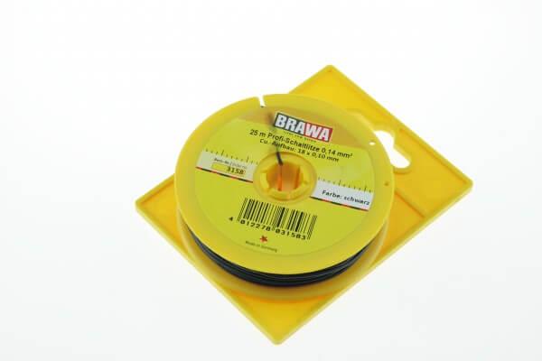 BRAWA 3158 Schaltlitze, 0,14 mm², 25-m schwarz