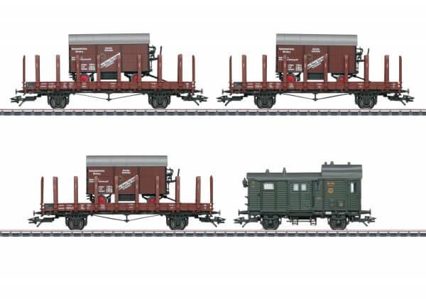 Märklin 48829 H0 Güterwagen Set Großbehälter mit Straßenlaufwerk der DRG Epoche II