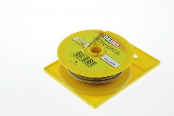BRAWA 3216 Flachbandlitze für digitalen Einsatz, 0,25 mm², 5-m-Ring gelb/braun