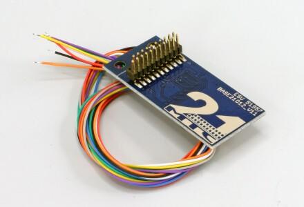 ESU 51957 Adapterplatine 21MTC für 8 verstärkte Ausgänge, Lötkontakten und angelöteten Kabeln