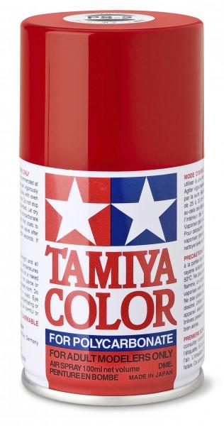 TAMIYA 300086002 PS-2 Rot Polycarbonat 100ml