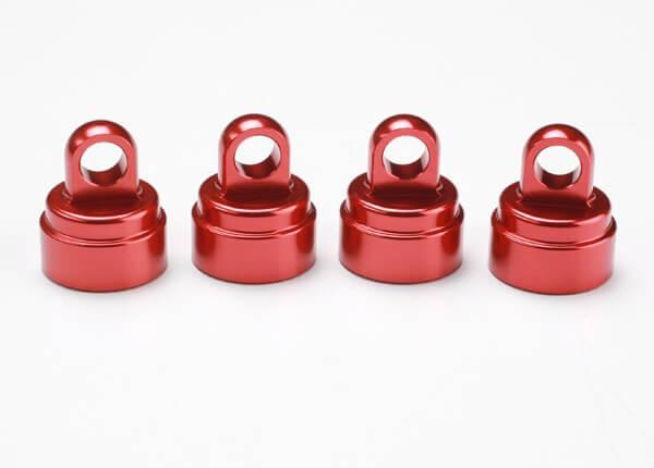TRAXXAS® 3767X Ultra Shock Aluminium Dämpfer-Kappen-Set rot