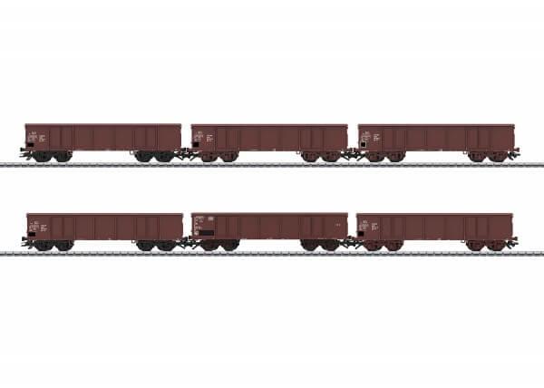 Märklin 46911 Güterwagen-Set 5 Eas DR 1 Eaos DB